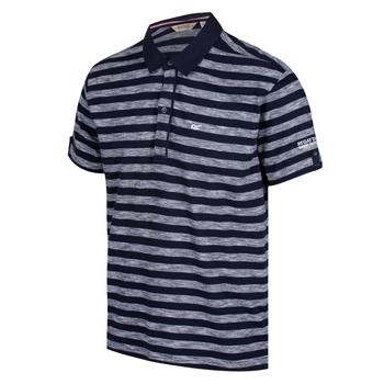 Macaulay Herren-Poloshirt in Jersey-Qualität weiß-navy
