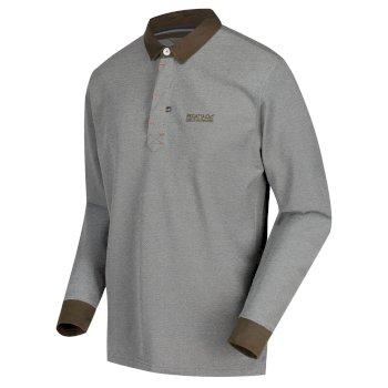 Panos Langarm-Poloshirt für Herren dunkelgrün
