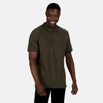 Regatta Men's Talcott II Pique Polo Shirt - Dark Khaki