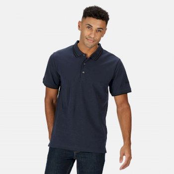 Regatta Men's Talcott II Pique Polo Shirt - Navy Black