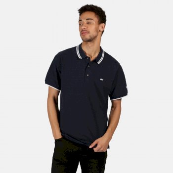Regatta Men's Talcott II Pique Polo Shirt - Navy White