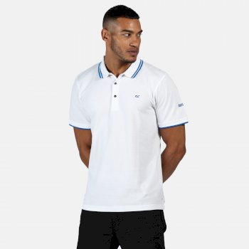 Regatta Men's Talcott II Pique Polo Shirt - White Nautical Blue