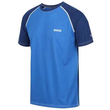 Tornell - Herren T-Shirt mit weicher Merinowolle Oxfordblau/Preußischblau