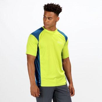 Hyper-Reflective II schnell trocknendes Herren-T-Shirt gelb-blau