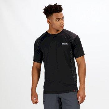 Hyper-Reflective II schnell trocknendes Herren-T-Shirt schwarz