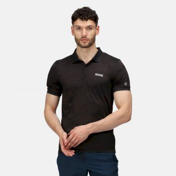 Regatta Men's Remex II Jersey Polo Shirt - Black