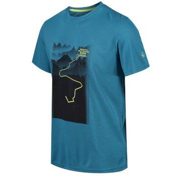 Fingal IV Herren-T-Shirt mit Graphik-Print Seeblau