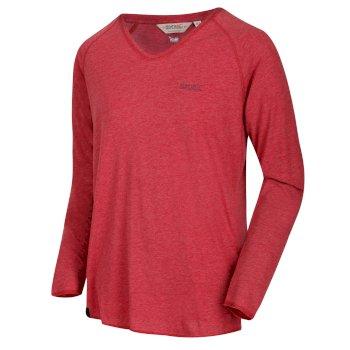 Kiro - Herren Langarmshirt - V-Ausschnitt Delhi-Rot
