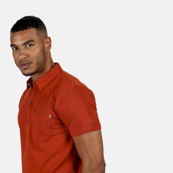 Barley Polo-Shirt für Herren Orange