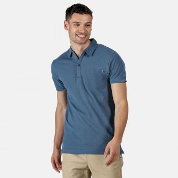 Barley Polo-Shirt für Herren Blau