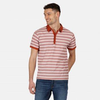 Morrie gestreiftes Polo-Shirt für Herren Orange