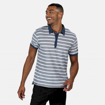 Regatta Men's Morrie Striped Polo Shirt - Dark Denim