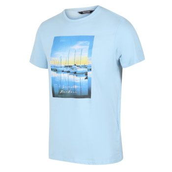 Regatta Men's Cline IV Graphic T-Shirt - Powder Blue
