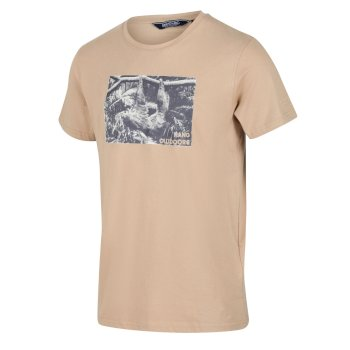 Regatta Men's Cline IV Graphic T-Shirt - Oat