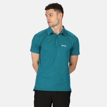 Kalter Polo-Shirt für Herren Blau