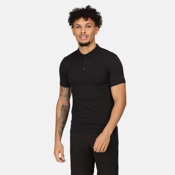 Sinton leichtes Polo-Shirt für Herren Schwarz