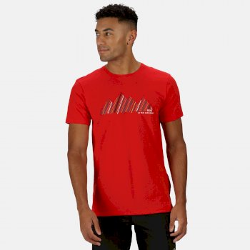 Regatta Men's Breezed Graphic T-Shirt - Chinese Red
