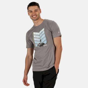 Breezed Graphic T-Shirt für Herren Grau