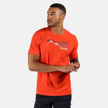 Regatta Men's Breezed Graphic T-Shirt - Burnt Salmon