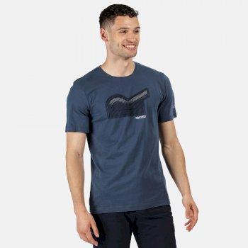 Breezed Graphic T-Shirt für Herren Blau