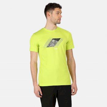 Fingal V Graphic Active T-Shirt für Herren Gelb