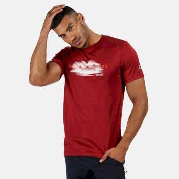 Fingal V Graphic Active T-Shirt für Herren Rot
