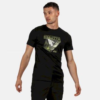 Fingal V Graphic Active T-Shirt für Herren Schwarz
