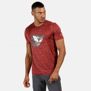 Fingal V Graphic Active T-Shirt für Herren Orange