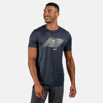 Fingal V Graphic Active T-Shirt für Herren Blau