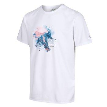 Fingal V Graphic Active T-Shirt für Herren Weiß
