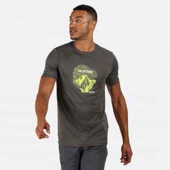 Fingal V Graphic Active T-Shirt für Herren Grau