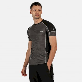 Regatta Men's Camito Active T-Shirt - Magnet Grey Black