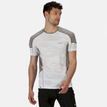 Regatta Men's Camito Active T-Shirt - White Rock Grey