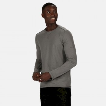 Regatta Men's Karter II Coolweave Lightweight Long Sleeve T-Shirt - Asteroid Grey