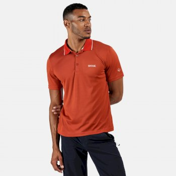 Maverick V Active Polo-Shirt für Herren Orange
