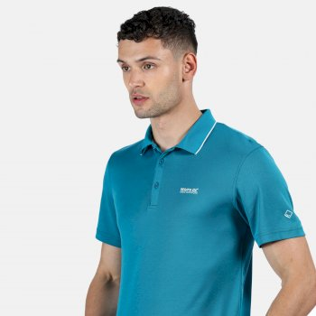 Maverick V Active Polo-Shirt für Herren Blau