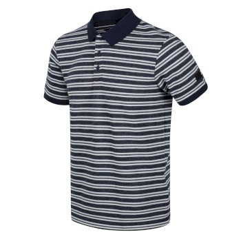 Regatta Men's Malak Striped Polo Shirt - Navy Stripe