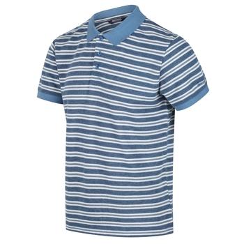 Malak gestreiftes Polo-Shirt für Herren Blau