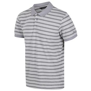 Malak gestreiftes Polo-Shirt für Herren Grau