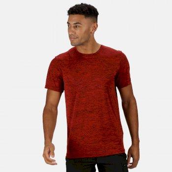 Fingal Edition Marl T-Shirt für Herren Rot