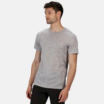 Fingal Edition Marl T-Shirt für Herren Grau