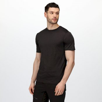 Regatta Men's Fingal Edition Marl T-Shirt - Black