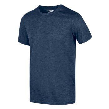Fingal Edition Marl T-Shirt für Herren Blau