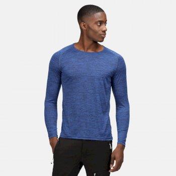 Burlow Langarmshirt für Herren Blau