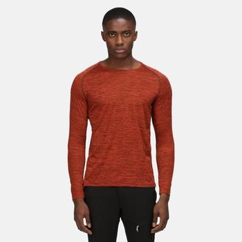 Burlow Langarmshirt für Herren Orange