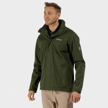 Regatta Matt Waterproof Shell Jacket with Concealed Hood Racing Green