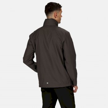 Regatta Men's Matt Lightweight Waterproof Walking Jacket with Concealed Hood - Magnet Ash
