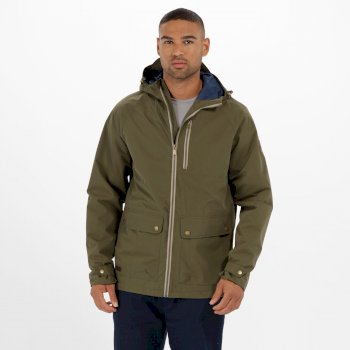 Regatta Hamlen Hooded Waterproof Jacket Ivy Green