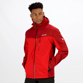Regatta Men's Birchdale Waterproof Jacket Delhi Red Classic Red
