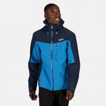 Regatta Men's Birchdale Waterproof Hooded Walking Jacket - Imperial Blue Nightfall Navy